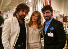 Chrisagis Brothers with Jaclyn Smith